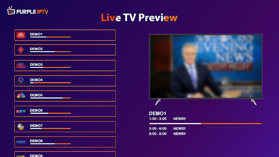 IPTV Smart Purple Player - No Ads Screenshot