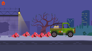 Dinosaur Police Car - Police Chase Games for Kids