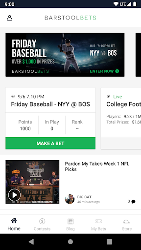 barstool bets screenshot 1