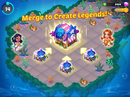 Merge Mermaids-design home&create magic fish life. 1.0.8 screenshots 6