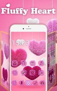 Fluffy diamond Hearts Theme: Pink Comics Launcher 3.9.12 Screenshots 2