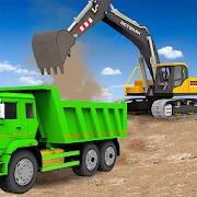 Sand Excavator Truck Driving Rescue Simulator game