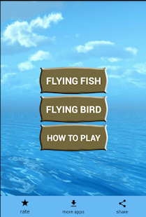 Flying fish game- flying bird games & Flappy games Screenshot