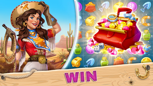 Jewels of the Wild Westu30fbMatch 3 Gems. Puzzle game  screenshots 3