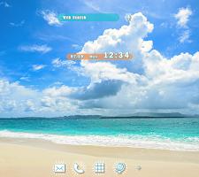 Beautiful Wallpaper Summer Beach and Clouds Theme