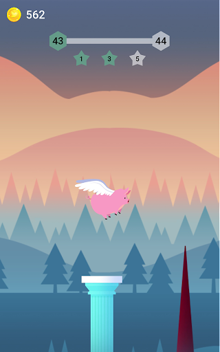 Bouncy Bird: Casual & Relaxing Flappy Style Game 1.0.7 screenshots 3