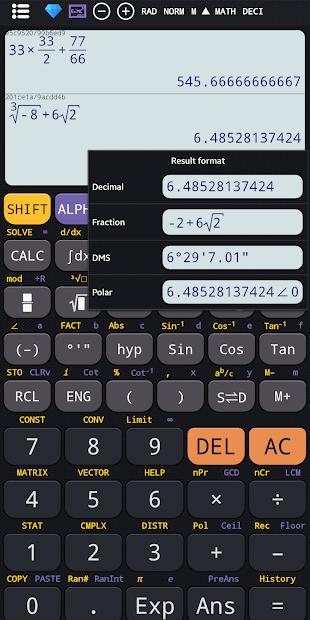 Captura 6 de Calculadora científica 82 es plus advanced 991 ex para android