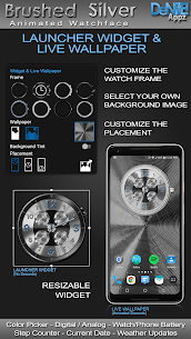 Brushed Silver HD Watch Face Widget Live Wallpaper 5.1.0 Mod APK Latest Version 2