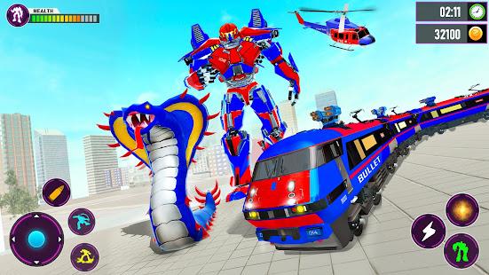 Snake Robot Train Transforming - War Robot Games 2.0.9 screenshots 1
