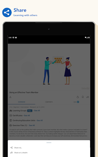 LinkedIn Learning: Online Courses to Learn Skills 0.163.25 Screenshots 14
