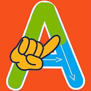 ABC kids writing alphabet - Letter tracing school