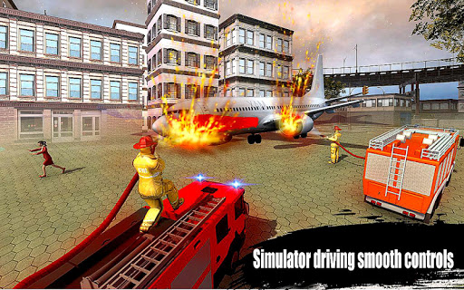 American Fire Fighter 2019: Airplane Rescue apkpoly screenshots 4