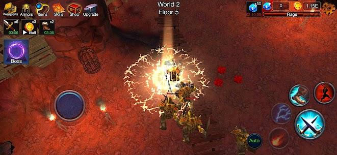 Dungeon Clash Mod Apk- 3D Idle RPG (Unlimited Gold/ Diamonds) 2