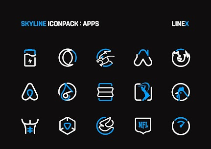 SkyLine Icon Pack : LineX Blue Edition v2.8 [Patched] 2