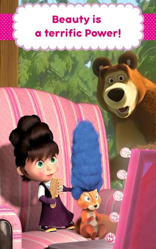 Masha and the Bear: Hair Salon and MakeUp Games apkpoly screenshots 12