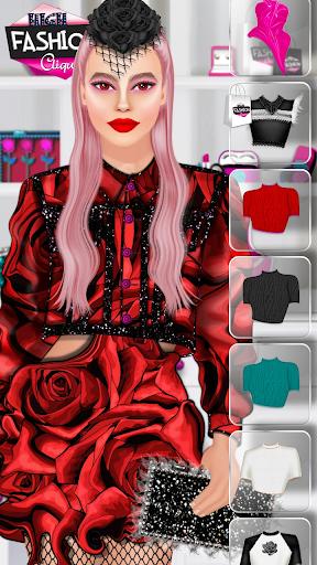 High Fashion Clique - Dress up & Makeup Game  screenshots 4