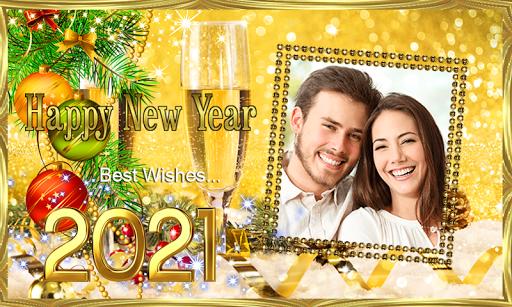 Happy New Year 2021 Photo Frames Greeting Wishes 1.0.1 Screenshots 3