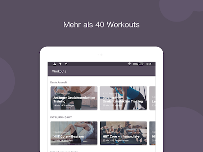 Keep - Der Workout-Trainer für Zuhause Screenshot