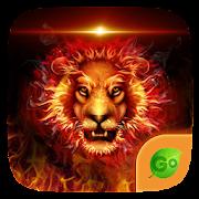 Fire Lion  GO Keyboard  Theme  Icon