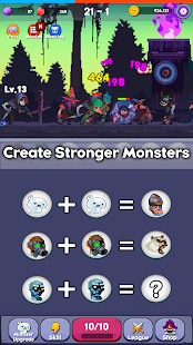 Merge Monster - Offline Idle Puzzle RPG
