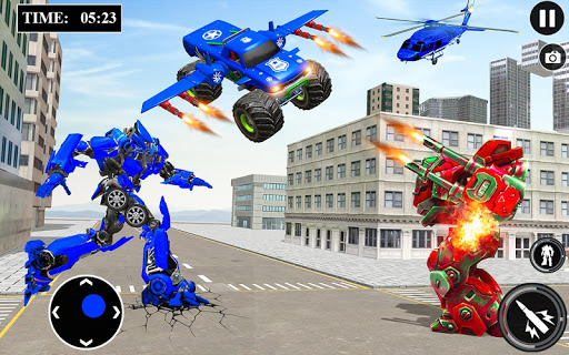 US Police Monster Truck Robot 4.0 Screenshots 1