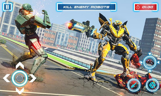 Lion Robot Transform Bike War : Moto Robot Games 1.5 screenshots 3