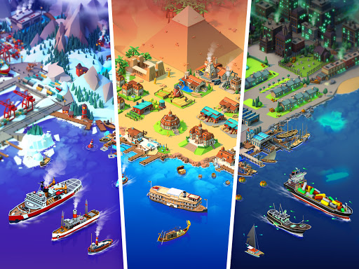 Sea Port: Cargo Ship & Town Build Tycoon Strategy 1.0.151 screenshots 7