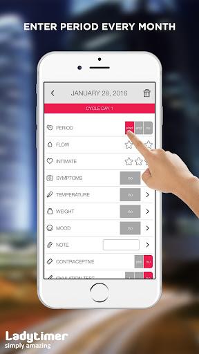 Ladytimer Ovulation & Period Calendar android2mod screenshots 6