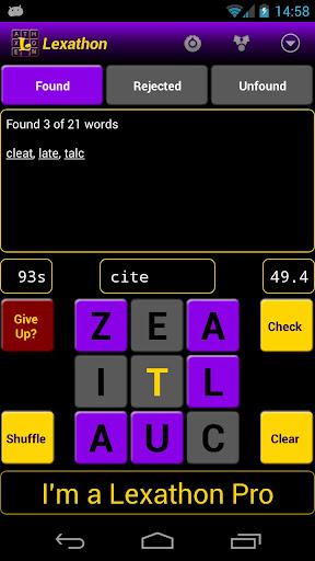 lexathon® word jumble screenshot 1