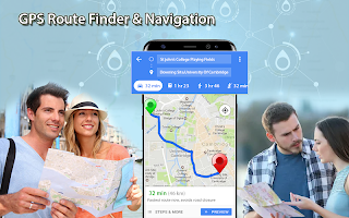 GPS Route Finder Live Street View & Map Direction