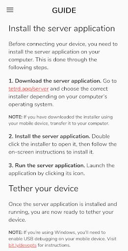 Foto do Tetrd — USB Tethering & Reverse Tethering (NoRoot)