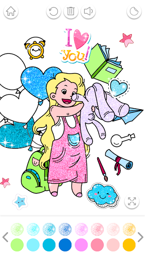 Kawaii Coloring Book Glitter modavailable screenshots 4