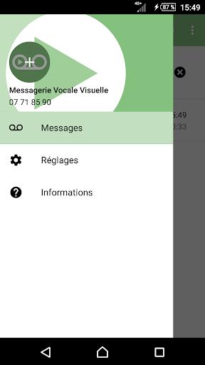 Messagerie Vocale Visuelle V1.5.2 screenshots 1