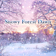 Winter Wallpaper Snowy Forest Dawn Theme