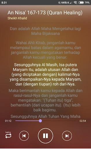 ayat ruqyah qur'ani (teks arab dan terjemahan) screenshot 2