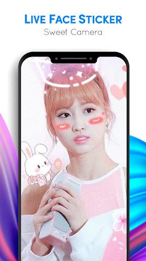 Live Face Sticker Sweet Camera  Screenshots 8