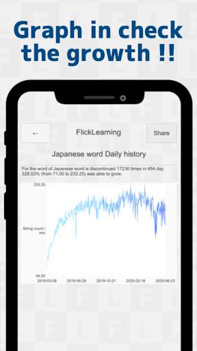 Japanese Flick Typing practice app 1.136.0 screenshots 4