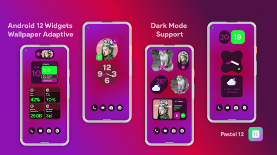 Pastel 12 - Android 12 Widgets for KWGT Pro Screenshot