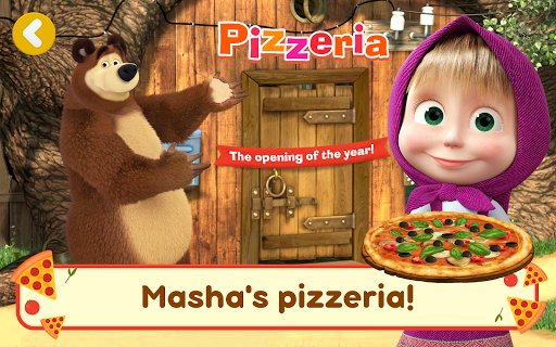 Masha and the Bear Pizzeria Game! Pizza Maker Game  screenshots 10
