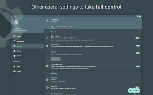 Rotation - Orientation Manager Screenshot