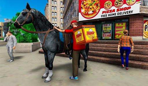 Mounted Horse Riding Pizza Guy: Food Delivery Game 1.0.3 screenshots 6