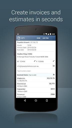 Invoice Maker u2013 estimate, invoice and receipt app  screenshots 4
