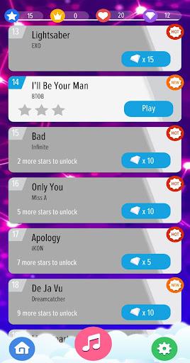 Kpop Piano Tiles Offline - All Korean Song 2020 2.0.2 Screenshots 7
