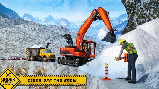 Snow Offroad Construction Excavator 2