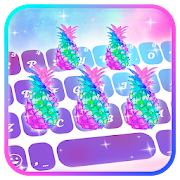 Galaxy Pineapple Keyboard Theme
