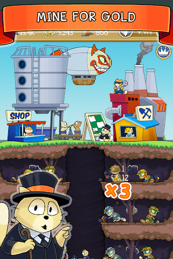 Dig it! - idle cat miner tycoon 1.39.5 screenshots 1