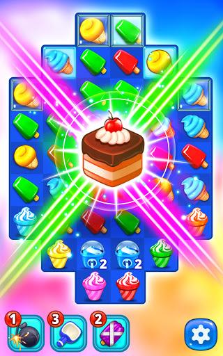 Ice Cream Paradise - Match 3 Puzzle Adventure Apkfinish screenshots 4