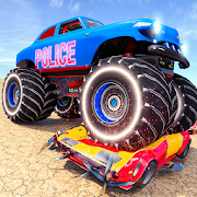 Free US Police Monster Truck Demolition Derby