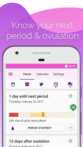 Period and Ovulation Tracker  Screenshots 1