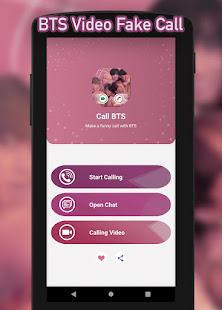BTS Video Fake Call : Prank Chat Call 1.2 screenshots 1
